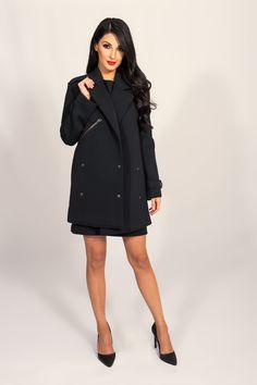 JOA BLACK NEOPRENE COAT
