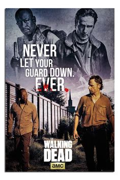 The Walking Dead Never Let Guard Down Poster