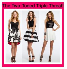 """""""The Two-Toned Triple Threat!"""" by camillelavie ❤ liked on Polyvore"""