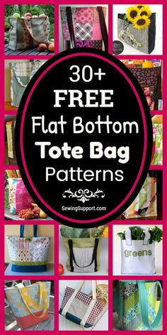 Over 30 free structured, flat bottom tote bag sewing patterns, tutorials, and diy projects. Bag Pattern Free, Bag Patterns To Sew, Tote Pattern, Sewing Patterns Free, Free Sewing, Messenger Bag Patterns, Diy Sewing Projects, Patchwork Bags, Couture