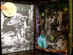 Méliès Diorama. Altered Tin Tin Art, Altered Tins, Boxes, Dioramas, Crates, Box, Cases, Boxing