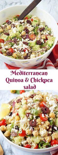 Mediterranean Quinoa & Chickpea salad. #quinoa #chickpea #mediterranean #salad @aromaticessence