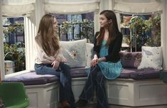 Girl Meets Bay Window Spoiler Pictures .... You're welcome :) --Riley upsets Maya when she decides to redecorate their sacred space: her bay window.-- I honestly can't wait for this episode to come out; mark your calendars because the new episode of Girl Meets World comes out February 19 @8;30 only on Disney Channel :) #MayaHart #RileyMatthews #GirlMeetsBayWindow #GMW #BMW #LucasFriar #FarkleMinkus