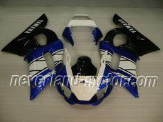 YAMAHA YZF-R6 1998-2002 ABS Verkleidung - Blau/Weiß/Schwarz #r6verkleidung #r6rj03verkleidung