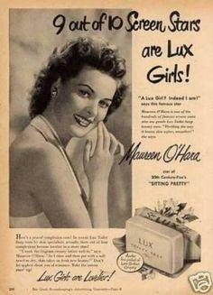 Lux Soap Ad Maureen O'hara (1948)
