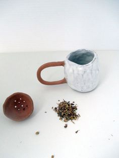 Tea Mug and strainer 2014 at Likely General