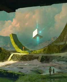 New Science Fiction Concept Fantasy Ideas Fantasy Places, Sci Fi Fantasy, Fantasy World, Sci Fi Environment, Environment Design, Fantasy Landscape, Landscape Art, Art Science Fiction, Fantasy Setting