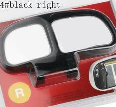 Car Mirror Blind Spot two glass Side Wide Angle Auto Rear View Adjustabe for parking universal slivery black white option