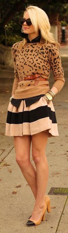 Skirt - BCBG & Sweater - Zara