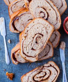 Cinnamon Swirl Bread. Homemade bread that's almost like cinnamon rolls. Buttery, sweet, & plentiful cinnamon-sugar swirls