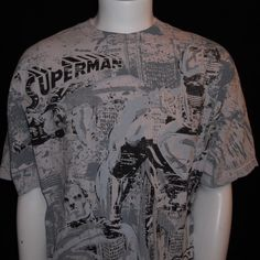 Superman DC Comics T-Shirt XL Clark Kent Man of Steel Metropolis Superhero #Superman #DCcomics