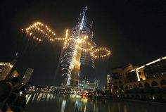 Dubai Expo 2020 | Fireworks at Burj Khalifa. image: meed. com. #dubaiexpo2020 #Expo2020 #MyEmirates