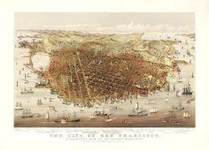 vintage map, san francisco