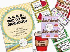 Oh' Boy 4th Grade: Made It on a Tuesday Appreciation tags for parents, students, and other teachers.  I love these!!!
