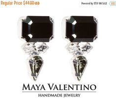 Optagon Rhinestone stud earrings classic jewelry  by MayaValentino