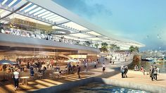 Plans for the Sydney Fish Market revealed #australia #3XN #BVN #architecture #landscape architecture #Aspectstudios #perspective