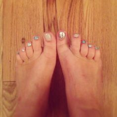 Different nail polish on each toe