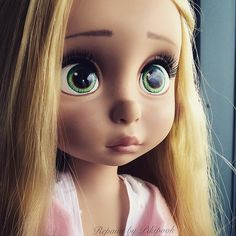 Repaint ook custom animator doll rapunzel animator's collection animator tangled raiponce toddler poupee disney store limited edition repaints pikipook   by Alison Animator Pikipook
