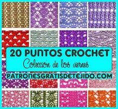 Crochet y dos agujas: Colección de los viernes: 20 Patrones Crochet de P...