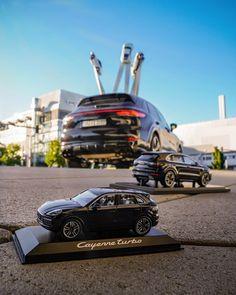 "Michael's Porsche Model Cars's Instagram post: ""#PorschePlatzChallenge with the #143scale #CayenneTurbo - #118scale #PorscheCayenenTurbo and the all new 1/1 scale #CayenneGTS from…"""