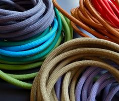 bored with the cord? colored electrical cords