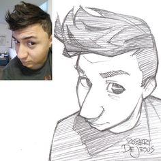 Jdofasgard sketch. Portrait commission info.