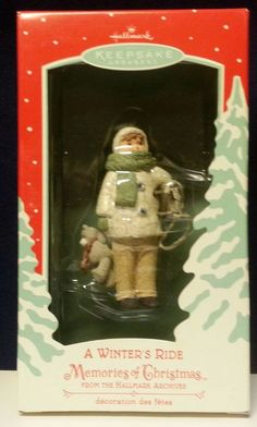 Hallmark Keepsake Archives Ornament 2002 Memories of Christmas - A Winter's Ride