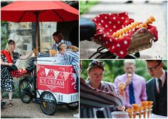 Lucy and Simon's Amazing Steampunk Wedding. By Toast of Leeds-- ice cream toast a great idea!