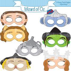 Wizard of Oz Printable Masks dorothy mask by HappilyAfterDesigns