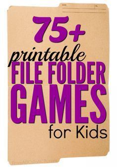 Printable File Folder Games for Kids File folder games are so easy to put together and are a great way for your child to practice the concepts that they're learning! File Folder Activities, File Folder Games, File Folders, Folder Games For Toddlers, Work Folders, Toddler Learning, Preschool Activities, Preschool Printables, Early Learning