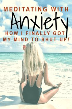 Learn practical and unique ways to quiet your mind it you are struggling with anxiety. How to calm intrusive thoughts and use meditation for anxiety.