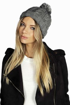 326382249c6 Rosie Chunky Knit Bobble Hat. Derby Hats