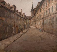 Street of Prague, Jan Minařík. Czech (1862 - 1937)