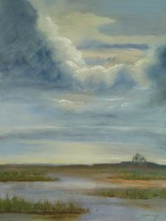 My painting Salt Marsh Storm @ about 80%