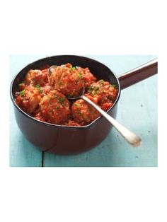 Juicy Turkey Meatballs in Tomato and Basil Sauce