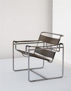 """MARCEL BREUER, """"Wassily"""" club chair, model no. B3, ca. 1930-1931"""