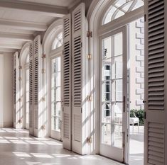Shutters create natural ventilation, control heat, offer privacy and add glamour.