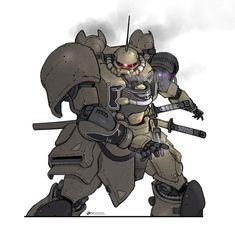 "mechaddiction: "" Samurai by NOMANSNODEAD on DeviantArt #mecha – https://www.pinterest.com/pin/331296116322817996/ """