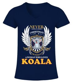 c8210bbad A Woman Who Loves Koala #Shirts #KoalaShirts Penguin T Shirt, Panda Shirt,