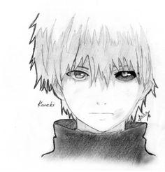 Easy Drawings Sketches, Dark Drawings, Cute Drawings, Kaneki Ken Drawing, Tokyo Ghoul Drawing, Tokyo Ghoul Dibujos, Kaneki Fanart, Aesthetic Japan, Anime Sketch