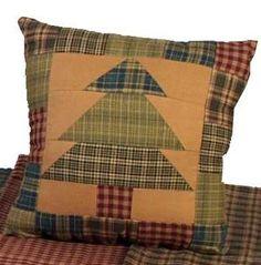 """10"""" square Primitive Christmas Pillow"""