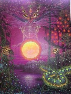 Spiritual Images, Hippie Art, Visionary Art, Fantasy Landscape, Sacred Art, Nature Images, Color Of Life, Psychedelic Art, Fantasy Artwork