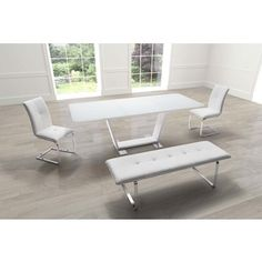 St. Charles Extension Dining Table White | Overstock.com Shopping - The Best Deals on Dining Tables