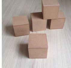 cubo 7x7 em mdf cru