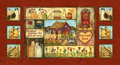 Gather Together the Ones You Love - flowers, Valentines, door, cottage, snails, bird houses, butterflies, Valentine, trees, Valentines Day, cats, fences, tulips, hearts, birds, dog, bees, watering cans