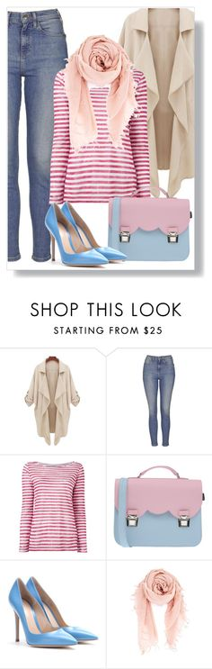 """""""Untitled #1400"""" by andreastoessel ❤ liked on Polyvore featuring Topshop, Majestic Filatures, La Cartella, Gianvito Rossi and Chan Luu"""