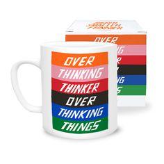 Always chewing over a problem? Mug / £11  Stylish and sassy mug from Scott Patt's 'Bigger. Smaller. Funnier' 365/painting-a-day project. Published by U STUDIO.  #mug #tableware #homeware #decor #gift #present #stylish #cheeky #fun #cool #art #design #typography