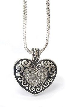 be47915745 Oravo 4.00 Carat T.G.W. Heart Shape Created Blue Sapphire Rhodium ...