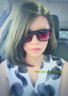 彰化INN salon - Edison💈 ⭕️她駕御這髮色讓人覺得超有氣勢 ⭕️特殊色 - 綠色 ⭕️中長鮑伯