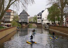 Bad Kreuznach, Mühlenteich und Brückenhäuser (Nahe with bridge houses)